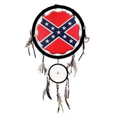 """13"""" Rebel Flag Dream Catcher in tomscottagestore's Garage Sale in Portland , OR for $16. Confederate Flag dream catcher. Measures approximately 13"""" in diameter. Rebel flag image in center measures 8 1/2"""" (Print on one side only). Small ring measures approximately 5"""". Item Weight: 6 oz"""