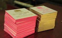 cartes de visite cartons bords couleur