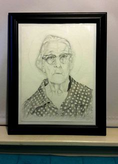 """I decided to do something a little different for my wife's  birthday this year. This sketch is of her great-great grandmother, whom she called """"Nanny."""" Nanny was one of the most important people in Tonya's life, an extremely kind woman, loved dearly by her whole family and anyone who knew her. Tonya did not have any pictures of her, so I decided to make one.   Thank you Danielle Goddard for supplying the reference.  This was done freehand on 100 lbs bristol with HB and 2B graphite pencils"""