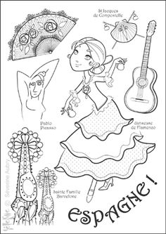Home Decorating Style 2020 for Coloriage Espagne, you can see Coloriage Espagne and more pictures for Home Interior Designing 2020 15985 at SuperColoriage. Kids Around The World, Around The Worlds, Coloring For Kids, Adult Coloring, Colouring Pages, Coloring Books, World Thinking Day, World Crafts, World Geography