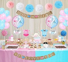 50  Amazing About Baby Shower Decoration Boy Or Girl Gender Reveal Themes, Gender Reveal Party Supplies, Gender Reveal Balloons, Reveal Parties, The Sims, Sims 4, Gender Reveal Party Decorations, Baby Shower Decorations For Boys, Baby Shower Themes