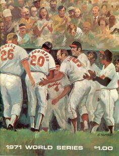 1971 World Series Baseball Program Baltimore Orioles vs Pittsburgh Pirates Hockey, Baseball Gear, Braves Baseball, Baseball Players, Baseball Stuff, Basketball, Pittsburgh Pirates Baseball, Baltimore Orioles Baseball, 1971 World Series