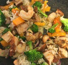21 Day Fix Shrimp & Chicken Stir Fry