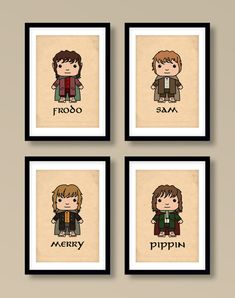 Lord of the Rings inspired wall art.  These adorable Tokien inspired prints would make a great addition for anyone who is a fan of The Lord Of The
