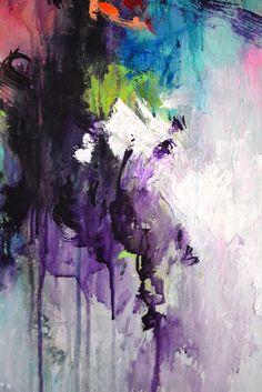 Original large abstract painting work of art by ARTbyKirsten