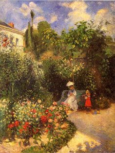 Setting Visualization: Rose Hill  (The Garden at Pontoise by Camille Pissarro)