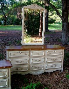 Dresser painted in Annie Sloan's Country Grey Chalk Paint