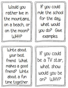 Back to School Writing Prompts and printables to keep students engaged and busy the first week of school!