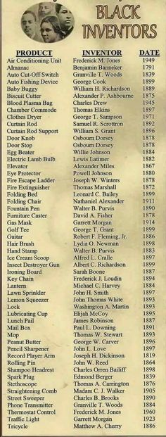 Black History Month--List of black inventors We Are The World, In This World, African American Inventors, African American Quotes, African American Scientists, Native American, African American Beauty, Black History Facts, Black History Inventors