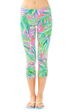 dc758343f5b9c GOODBYE boring black leggings. HELLO happy, vibrant printed leggings. These  cropped leggings are