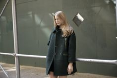 LOOKAST CHAPTER #5 - 2014 fall winter in New York_ Green oversize coat
