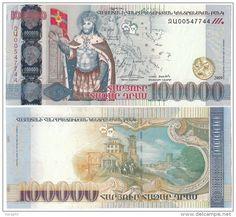 2009 100,000 Armenian Dram Banknote.