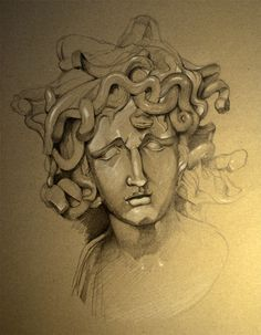 Medusa Sketch Medusa Drawing, Sketches Of Love, Best Water Bottle, Mythology, Hand Drawn, Concept Art, How To Draw Hands, Van, Study