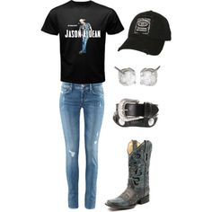 Jason Aldean/Cute concert outfit I'm in love! I want this shirt so bad Country Girl Style, Country Fashion, Country Outfits, Country Girls, My Style, Country Life, Country Men, Country Music, Cute Concert Outfits