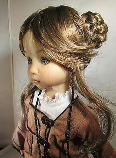 Monique Lottie Wig 7 8 for Effner Little Darling BJD MSD Kish Wiggs Lt Brown | eBay