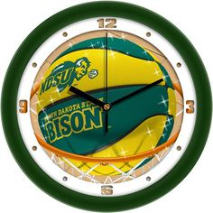 Mens North Dakota State Bison - Slam Dunk Wall Clock