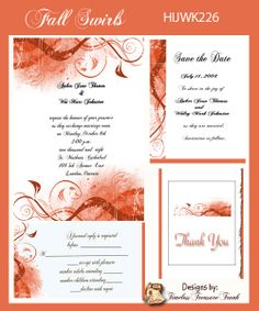 Fall colors wedding invitation do it yourself printable templates fall wedding invitation print it yourself solutioingenieria Image collections
