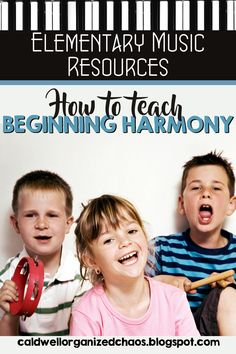 As an elementary music teacher, I get the honor of helping students sing harmony for the first time. Here are the steps I take to help students be successful with this new challenge plus some additional blog posts with strategies to help make this process easier. | Organized Chaos Elementary Choir, Elementary Music Lessons, Kindergarten Lessons, Classroom Management Tips, Behavior Management, Middle School Classroom, Classroom Setup, Teaching Music, Teacher Resources