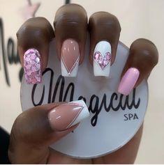 Square Nail Designs, Best Nail Art Designs, Shiny Nails, Gel Nails, Manicure, Rose Gold Nails, Spring Nail Art, Pretty Nail Art, Elegant Nails