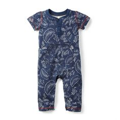 Mowgli's Jungle Romper | We named this jungle foliage print after Mowgli, the Indian boy who's adopted by wolves in Rudyard Kipling's Jungle Book story collection. The story of this print is that it's inspired by the live jungle botanicals we saw near the Kabini River.