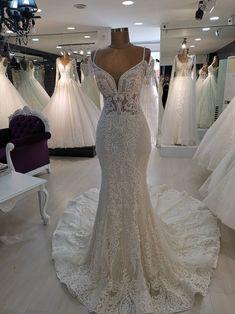 Off Shoulder Mermaid Wedding Dress. Full of Work. Beige Wedding Dress, Wedding Dress Sizes, Wedding Bridesmaid Dresses, Dream Wedding Dresses, Designer Wedding Dresses, Bridal Dresses, Tulle Wedding, Gown Wedding, Pina Tornai Wedding Dresses