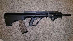 My Steyr AUG A3 CQC. Still needs back up sights, optics, and a few other accessories.