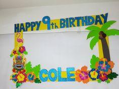 Hawaiian birthday. Hawaiian Photo booth Frame. hawaiian photo booth props. hawaiian birthday. hawaiian party decoration. hawaiian party