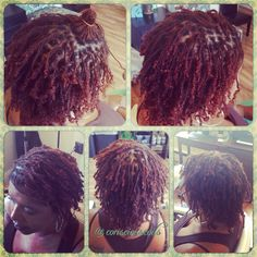 Style: Loc Retight (Braid locs/Interlocks) Client's Hair Type: 3c Hair Added: NA Products Used: Coiled! by Conscious Coils (Original Refresher Spray)  Time: 2hrs Style Duration: Retight every 6-7weeks