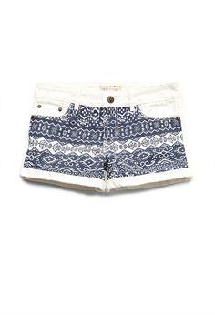Boho Doll Denim Shorts (Kids)   FOREVER21 girls #F21Girls #Juniors #Denim