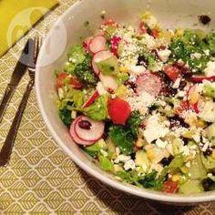Mexicaanse salade met limoen-koriander dressing