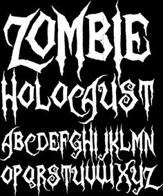 Zombie Font for practice jersey Tattoo Fonts Alphabet, Tattoo Lettering Fonts, Hand Lettering Alphabet, Graffiti Alphabet, Graffiti Lettering, Calligraphy Fonts, Lettering Design, Script Tattoos, Hand Tattoos