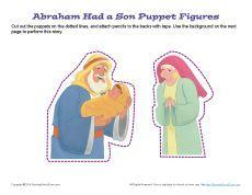 Bible Puppet Craft—God Gave Abraham a Son