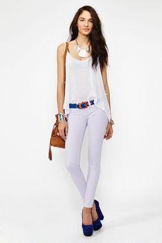 Dream Skinny Jeans in Lavender  http://www.nastygal.com/whats%2Dnew/dream%2Dskinny%2Djeans%2Dlavender?utm_source=pinterest_medium=smm_campaign=pinterest_nastygal