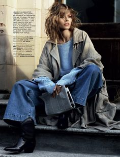 Sasha Luss Romance pose for Vogue Russia magazine February 2016 issue