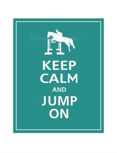 love this! No one knows how Fast your heart is beating when you get to a huge jump .. But keeping calm does help!