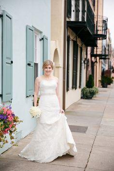 Charleston SC Bridal Portrait Session // Dana Cubbage Weddings // Charleston SC + Destination Wedding Photographer // Rainbow Row Downtown Charleston