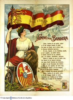 Viva España: himno a la bandera :: Cartells del Pavelló de la República (Universitat de Barcelona) Spain History, World History, Art History, A Level Spanish, Viking Quotes, Fab Fit Fun Box, Spanish Culture, Valencia Spain, Teaching Aids