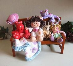 The Toy Bench - Polymer Clay 12th Scale by Trisha Martin