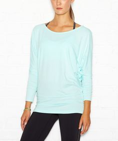 lucy Winter Heather Yoga Girl Long-Sleeve Top by lucy #zulily #zulilyfinds