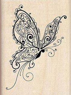 Inkadinkado montato timbro farfalla