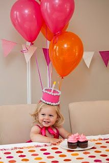 Hot Pink and Orange Birthday Party Inspiration!