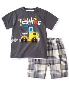 b02d1dd020 Kids Headquarters Baby Boys' 2-Piece Towing Tee & Shorts Set & Reviews -  Kids - Macy's