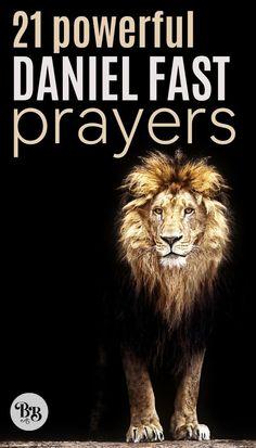 21 Daniel Fast Prayers