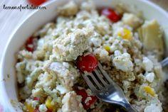 Pesto Ranch Chicken and Quinoa www.lemonsforlulu.com