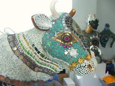 Recycled Garden Art – Mosaic Sculpture – Mosaic Artist – Anne Schwegmann-Fielding – Essex, UK | Mosaic Art Source