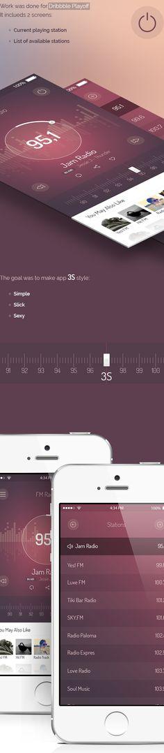 Mobile App Design Inspiration – FM Radio UI (PSD Included)