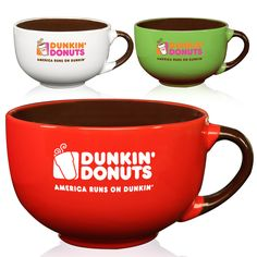 Custom cappuccino cups and soup mugs personalized with logo. Cappuccino soup mugs available wholesale as low as $1.40 per mug.