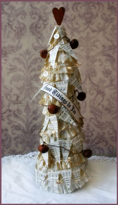 paper tree for Christmas