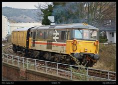 A Class 73 electric diesel loco, with a motor luggage van attached to it made it's way down the now-disused Folkestone Harbour branch line today (24th Feb '12). It was the first time in two years such a working took place.