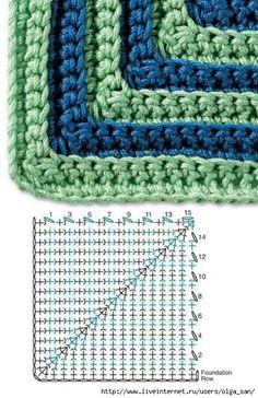 Crochet Granny - Chart ❥ 4U // hf